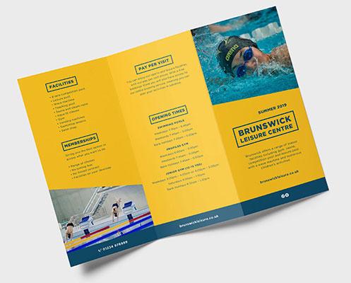 Tri-fold Folded leaflet