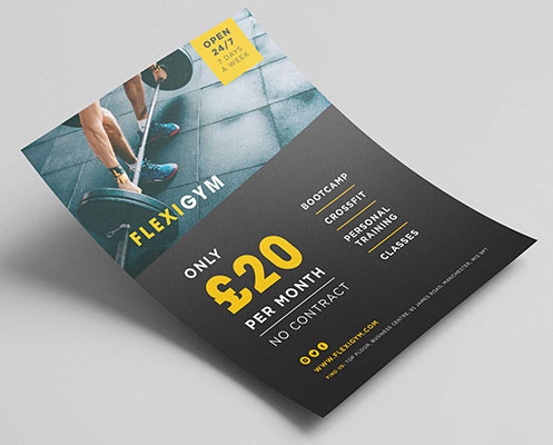 Single or double sided leaflet