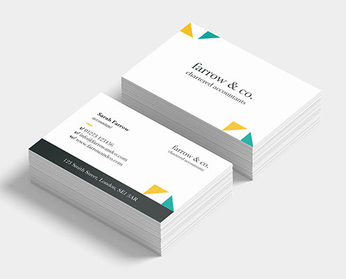 Premium, thick 400gsm business card with either a matt or silk finish