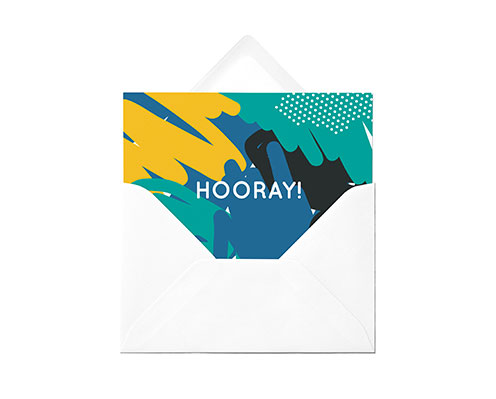 Personalised greeting card in envelope