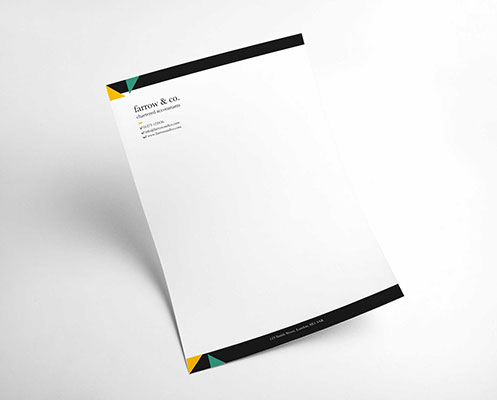 Company branded letterhead