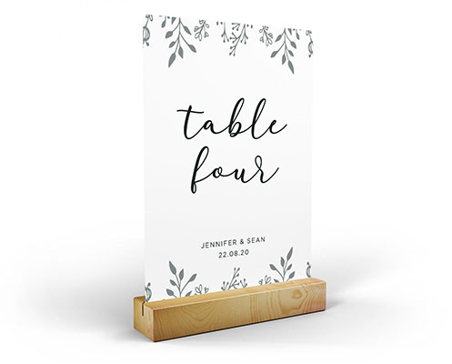 Wedding table name accessory