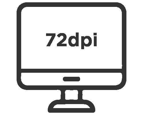 72 dpi resolution